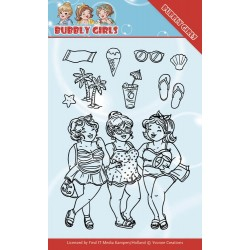 (YCCS10042)Clear Stamps - Yvonne Creations - Bubbly Girls - Beach Girls