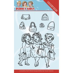(YCCS10044)Clear Stamps - Yvonne Creations - Bubbly Girls - Gone Shopping