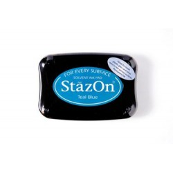 (SZ-000-063)Stamp ink StazOn teal blue