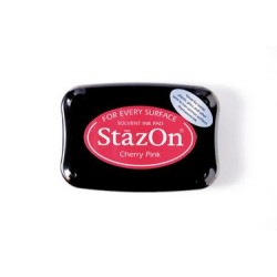 Stamp ink StazOn cherry pink