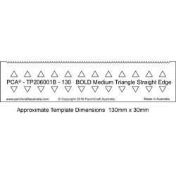 (PCA-TP206001B)PCA® EasyEdge 130mm BOLD Medium Triangle Straight Edge