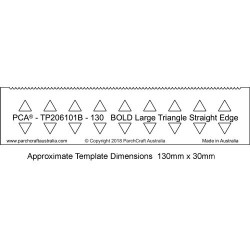 (PCA-TP206101B)PCA® EasyEdge 130mm BOLD Large Triangle Straight Edge