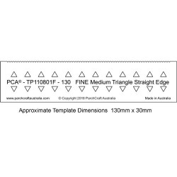 (PCA-TP110801F)PCA® EasyEdge 130mm FINE Medium Triangle Straight Edge