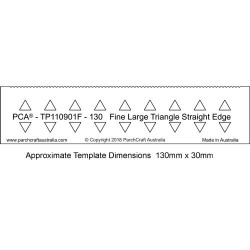 (PCA-TP110901F)PCA® EasyEdge 130mm FINE Large Triangle Straight Edge