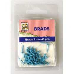 (FLP-BR012)Nellie`s Choice Floral brads Baby blue 40 PC 3m