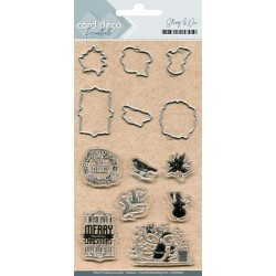(CDESD001)Card Deco Essentials Clear stamps & Cutting Die