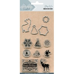 (CDESD002)Card Deco Essentials Clear stamps & Cutting Die
