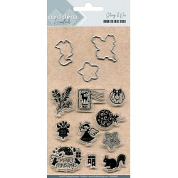(CDESD003)Card Deco Essentials Clear stamps & Cutting Die