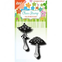 (6410/0492)Clear stamp  Mushrooms