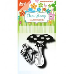 (6410/0493)Clear stamp  Mushrooms