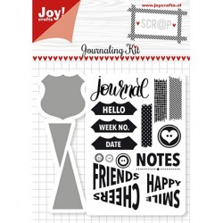 (6004/0028)Clear stamp / Stencil set Kit Journaling
