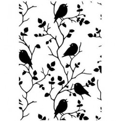 (HSF027)Embossing Folder Tree with birds