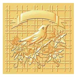 (HS3DF004)3D Embossing Folder Christmas bird
