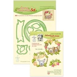 (45.5381)Lea'bilitie / Combi Stamp Wreath with pets