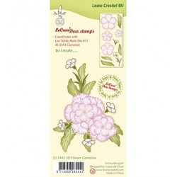 (55.5442)Clear stamp 3D Flower Carnation