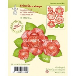 (55.5459)Clear stamp 3D Flower Rose