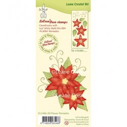 (55.5466)Clear stamp 3D Flower Poinsettia