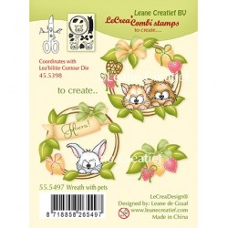 (55.5497)Clear Stamp Combi Wreath with pets