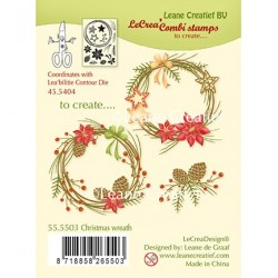 (55.5503)Clear Stamp Combi Christmas wreath