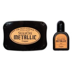 Stamp ink StazOn metallic copper