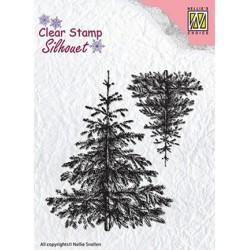 (SIL038)Nellie`s Choice Clearstamp - Christmas fir-trees