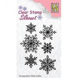 (SIL039)Nellie`s Choice Clearstamp - 6 Snowflakes