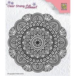 (SIL041)Nellie`s Choice Clearstamp - Mandala-3