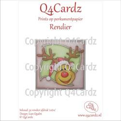 Q4Cardz Prints mini  Rendier Extra Perkamentpapier