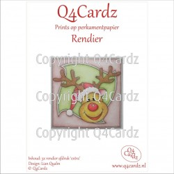 Q4Cardz Prints mini  Rendier Extra aquarelpapier