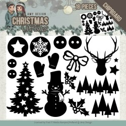 (ADCB1003)Chipboard - Amy Design - Christmas Wishes - afbeelding