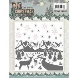 (ADEMB10010)Cut and Emboss Folder - Amy Design - Christmas Wishes