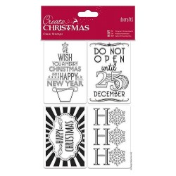 (PMA907948)Docrafts Mini Clear Stamps - Gift Tags