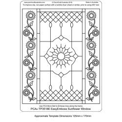 (TP3518E)PCA® - EasyEmboss Sunflower Window