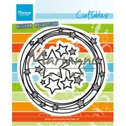 (CR1447)Craftables stencil Circle & stars