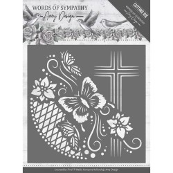 (ADD10154)Dies - Amy Design - Words of Sympathy - Cross Frame