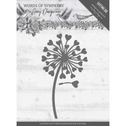 (ADD10155)Dies - Amy Design - Words of Sympathy - Sympathy Flower