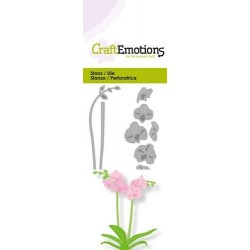 (115633/0231)CraftEmotions Die - orchid with long stem