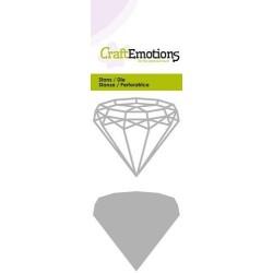 (115633/0236)CraftEmotions Die - wire shape diamand