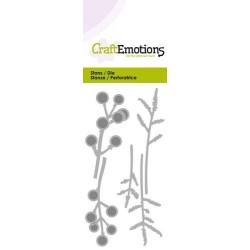 (115633/0229)CraftEmotions Die - berry twigs