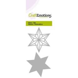 (115633/0226)CraftEmotions Die - wire shape star