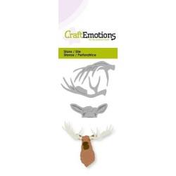 (115633/0225)CraftEmotions Die - head moose 3D
