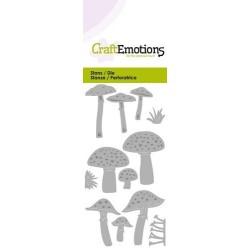 (115633/0221)CraftEmotions Die - various mushrooms