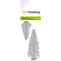 (115633/0219)CraftEmotions Die - trendy decoration Christmas trees