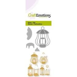 (115633/0217)CraftEmotions Die - 3 lanterns with snow