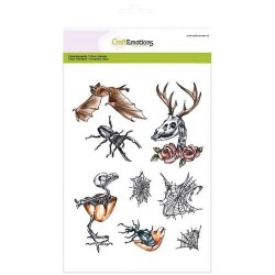 (3003)CraftEmotions clearstamp RusticArt A5 - Weird Science 2