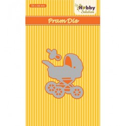 (HSDJ030)Hobby Solutions Dies Baby-serie Pram