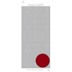(CRST010)Nellie`s Choice CrossCraft stickers mirror red