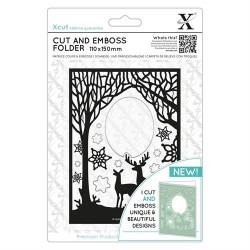 (XCU503941)Xpress embossing folder 110 x 150mm Winter Forest