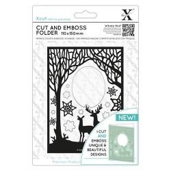 (XCU503941)Xpress embossing folder 110 x 150mm Winter Forest