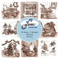 (BLT010)By Lene Toppers Elves & Gnomes Sepia